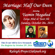 Marriage: Half our Deen in Raleigh