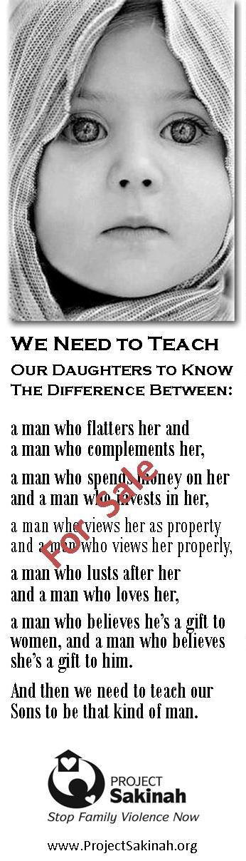We Need to Teach Our Daughters & Sons - Bookmark