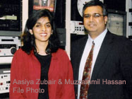Aasiya Zubair and Muzzammil Hassan File Photo